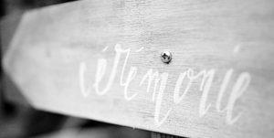 decoration mariage, pancarte cérémonie